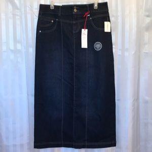 Style & Co. Denim tummy control skirt size 8